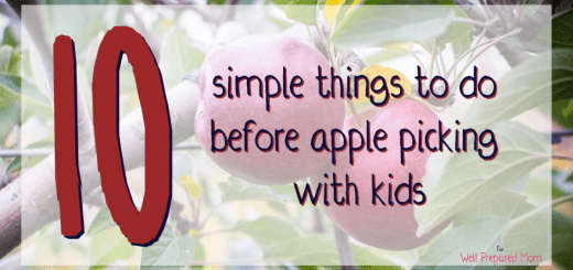 apple tree background with 10 simple things to do before apple picking with kids title