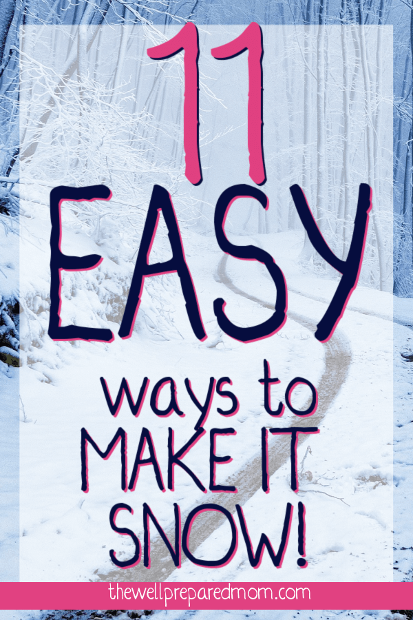 11 easy ways to make it snow text on a snowy road background