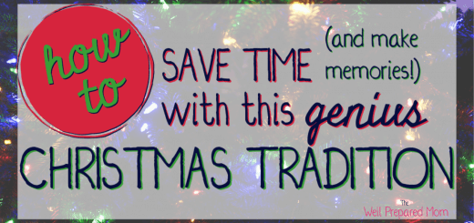 how to save time and make memories with this genius christmas tradition text on christmas light background