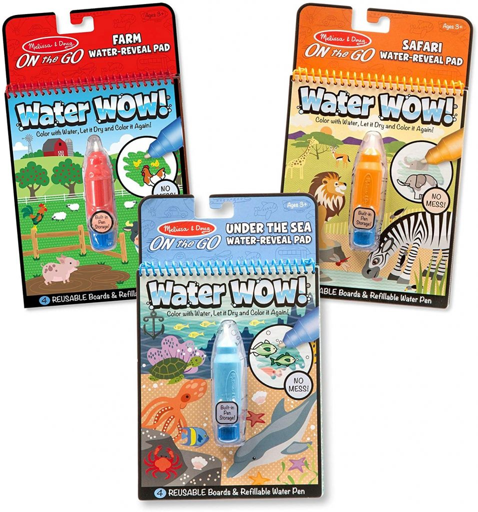 Three pack of Melissa & Doug Water Wow Activity Pads