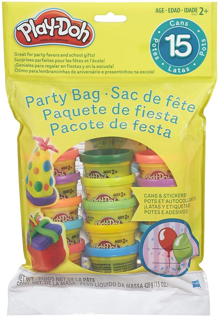 Play-Doh Party bag with 15 mini containers of dough