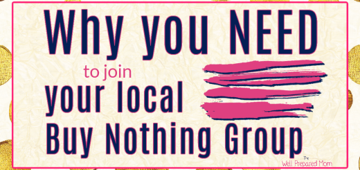 Why you NEED to join your local Buy Nothing Group